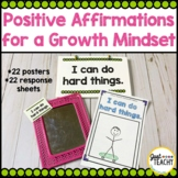 Positive Affirmation Posters for a Growth Mindset
