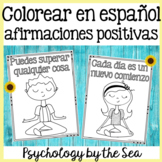 Positive Affirmations in Spanish, Mindfulness Meditation Coloring in Spanish