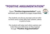 Positive Argumentation