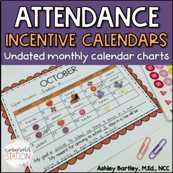 Positive Attendance Chart Monthly Reward Calendar