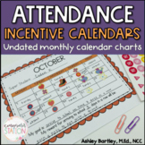 Monthly Attendance Incentive Calendars for School Counseling