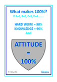 Positive Attitude Classroom Poster FREEBIE Autism Special Education
