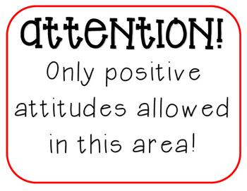 Positive Attitude Sign