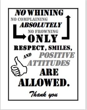Positive Attitudes Sign
