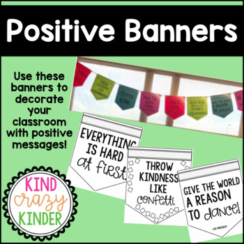 Positive Banners (Classroom Decorations)
