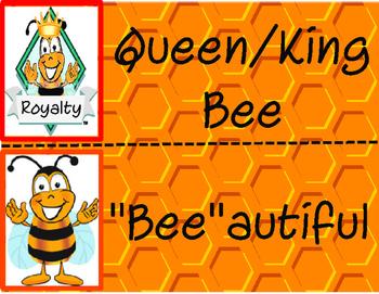 "Positive ""Bee""havior clip chart"