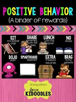Positive Behavior Binder of Rewards BLACK