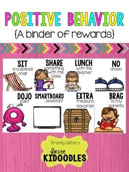 Positive Behavior Binder of Rewards WHITE