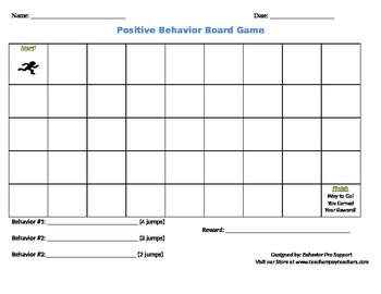 Positive Behavior Board Game