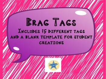Positive Behavior Brag Tags