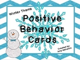 Positive Behavior Card Classroom Management Winter Theme