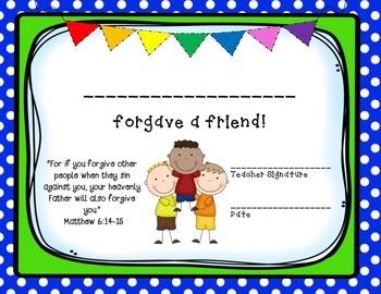 Positive Behavior Certificates with Bible Verses