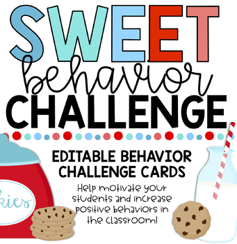 Positive Behavior Challenges - Cookie Theme