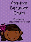 Positive Behavior Chart