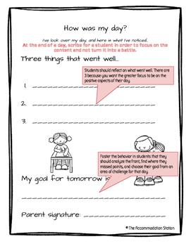 Positive Behavior Chart: Expanded