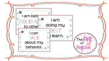 Positive Behavior Chart (Nautical Theme)