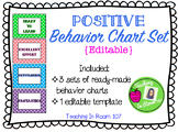 Positive Behavior Chart Set {Editable}