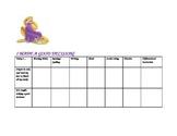 Positive Behavior Chart for Girl