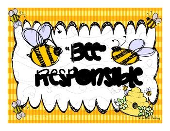 Positive Behavior Charts (Bee Themed)