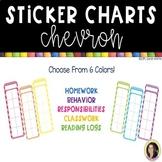 Positive Behavior Chevron Sticker Charts