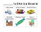 Positive Behavior Choice Board