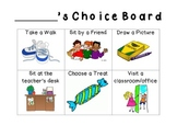 Positive Behavior Choice Board