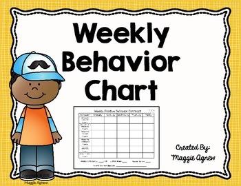 Weekly Classroom Behavior Chart