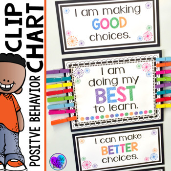 Positive behavior clip chart by love believe teach with jo ellen foody