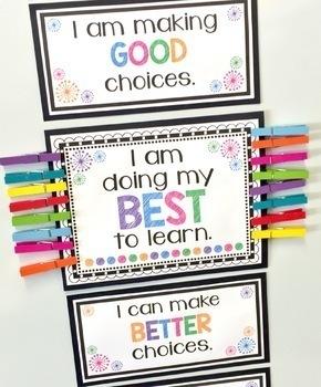Positive behavior clip chart by love believe teach with jo ellen foody