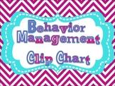 Positive Behavior Clip Chart {Bright Chevron colors!}