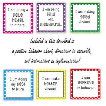 Behavior Clip Chart {Polka Dots}