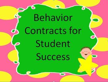 Positive Behavior Contract