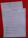 Positive Behavior Contract for Middle School and High School