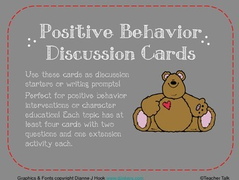 Positive Behavior Discussion Cards