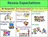 Five Positive Behavior Expectations Posters Bundle