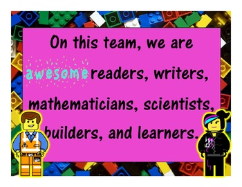 Lego Inspired --- AWESOME Positive Behavior Expectations Posters