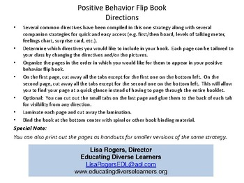Positive Behavior Flip Book