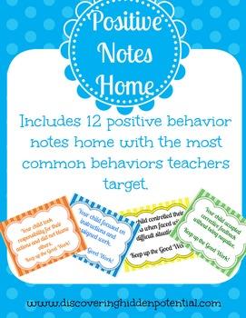 Positive Behavior Home Notes