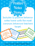 Positive Behavior Home Notes