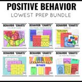 Positive Behavior Charts Bundle with Student Centered Focused Engagement