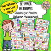 Positive Behavior Incentive Coupons for Classroom Management and Rewards