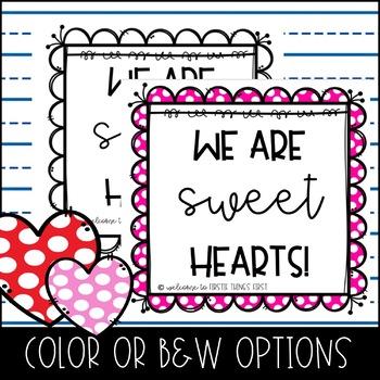 Positive Behavior Incentive- Sweet Hearts