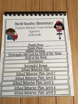 Positive Behavior Intervention System Teacher Flip Book, Word Version