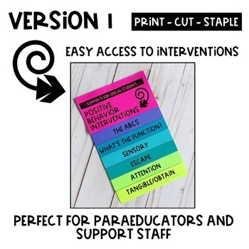 Positive Behavior Intervention Flipbook