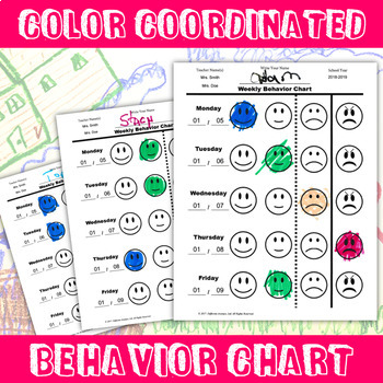 Behavior Plan with Behavior Chart, Data Tracking, and Clip Stick Instructions