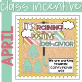 Positive Behavior Management: April Incentive Tracker *Editable*