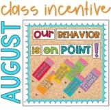 Positive Behavior Management: August Incentive Tracker *Editable*