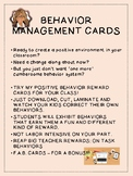 Positive Behavior Management Cards