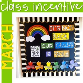 Positive Behavior Management: March Incentive Tracker *Editable*