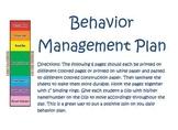 Positive Behavior Management Plan
